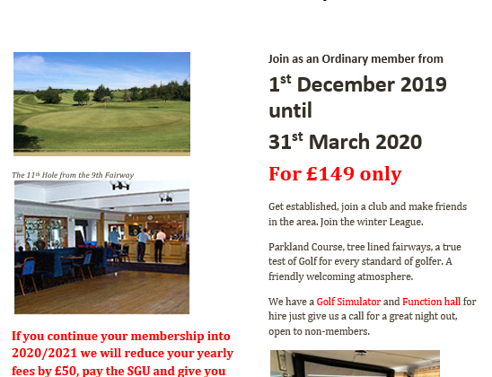 Ardeer Golf Club – December Membership Deal